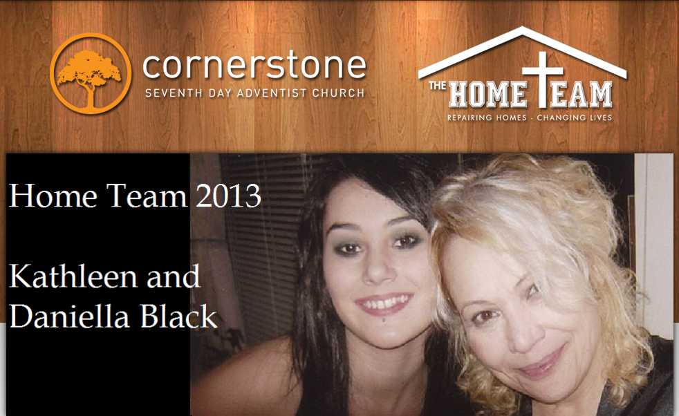 Kathleen and Daniella Black Cornerstone Home Team Project