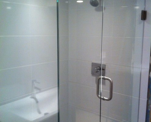 shower and tub install jj's custom plumbing