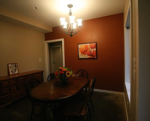 dining room after